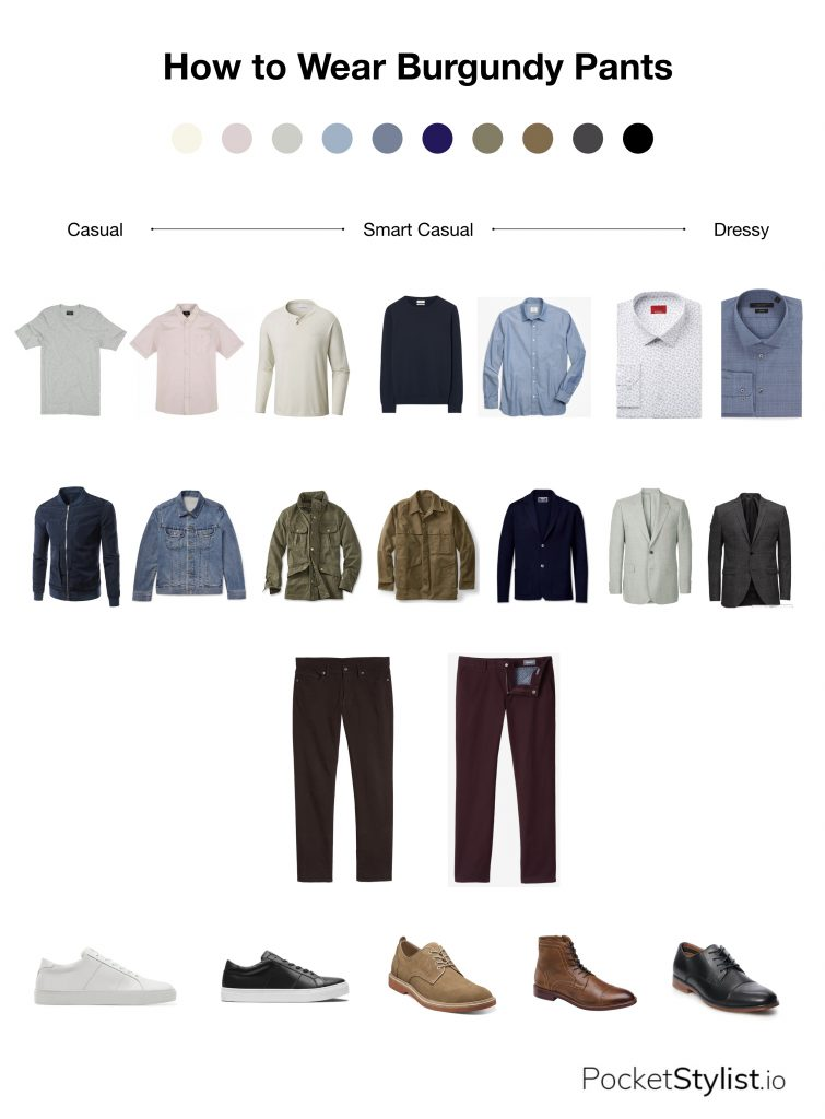 How To Wear Burgundy Pants Pocket Stylist,Colors That Go With Dark Grey