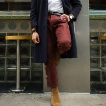 How to Wear Burgundy Pants